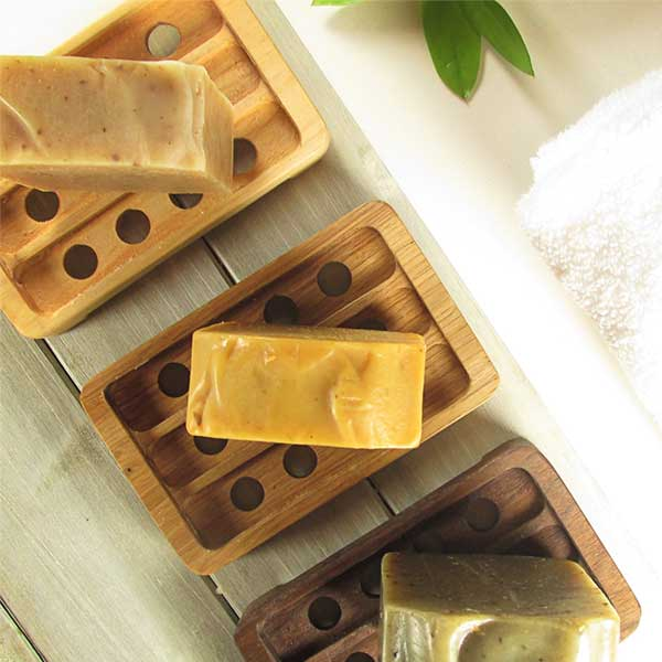 Earth Essentials Home Solid Wood Soap Dish